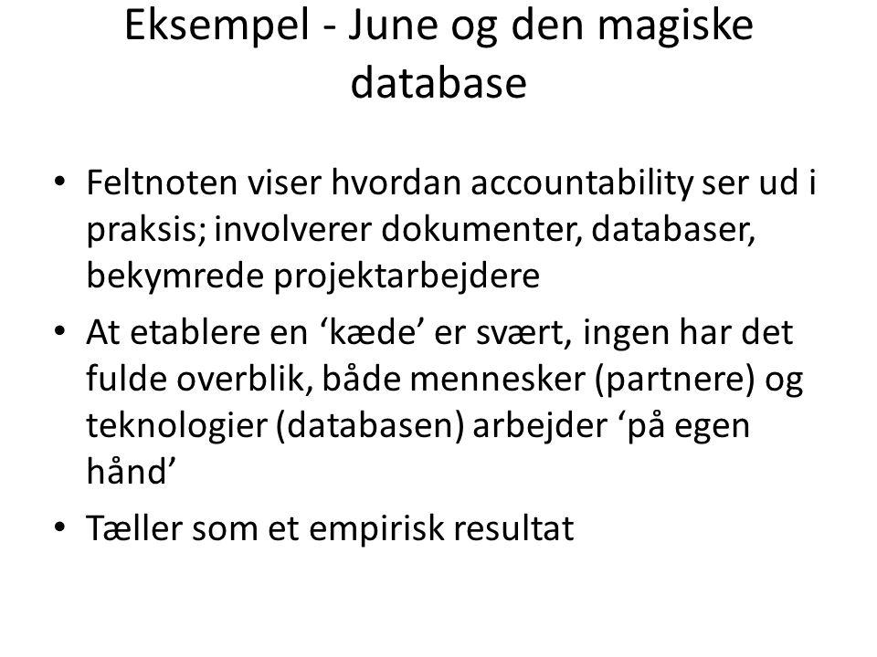 Eksempel - June og den magiske database
