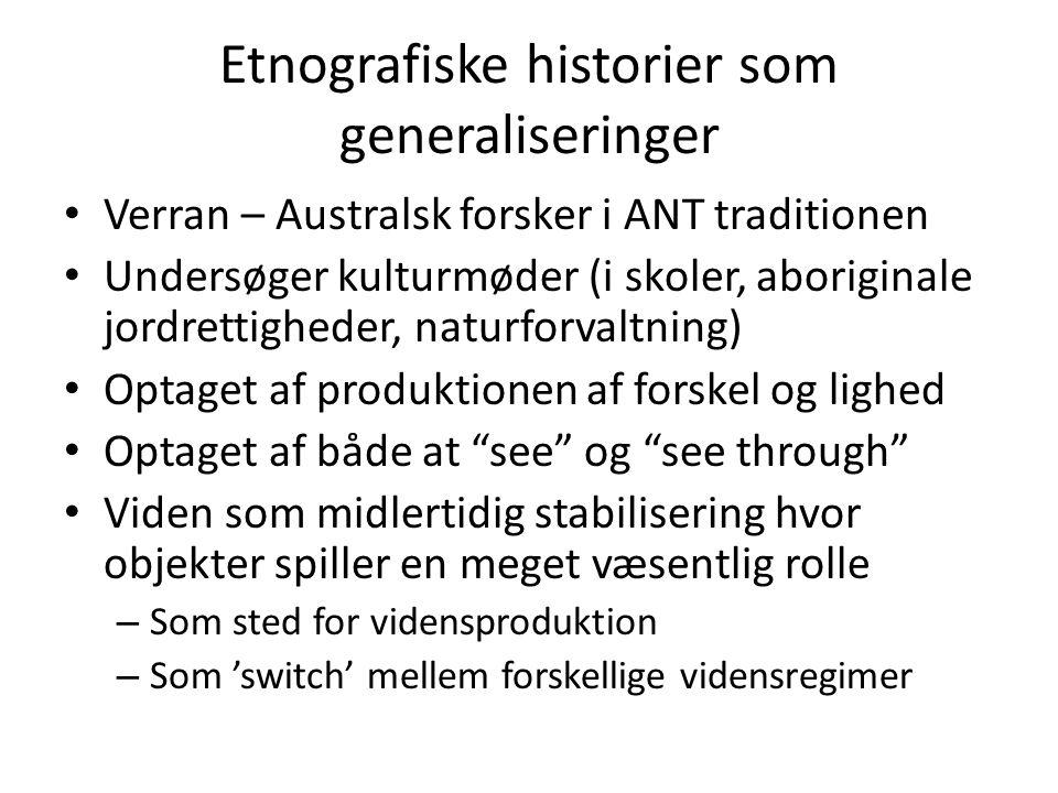 Etnografiske historier som generaliseringer
