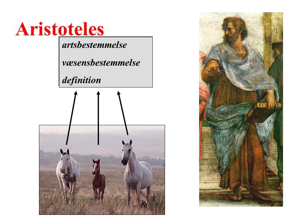 Aristoteles artsbestemmelse væsensbestemmelse definition