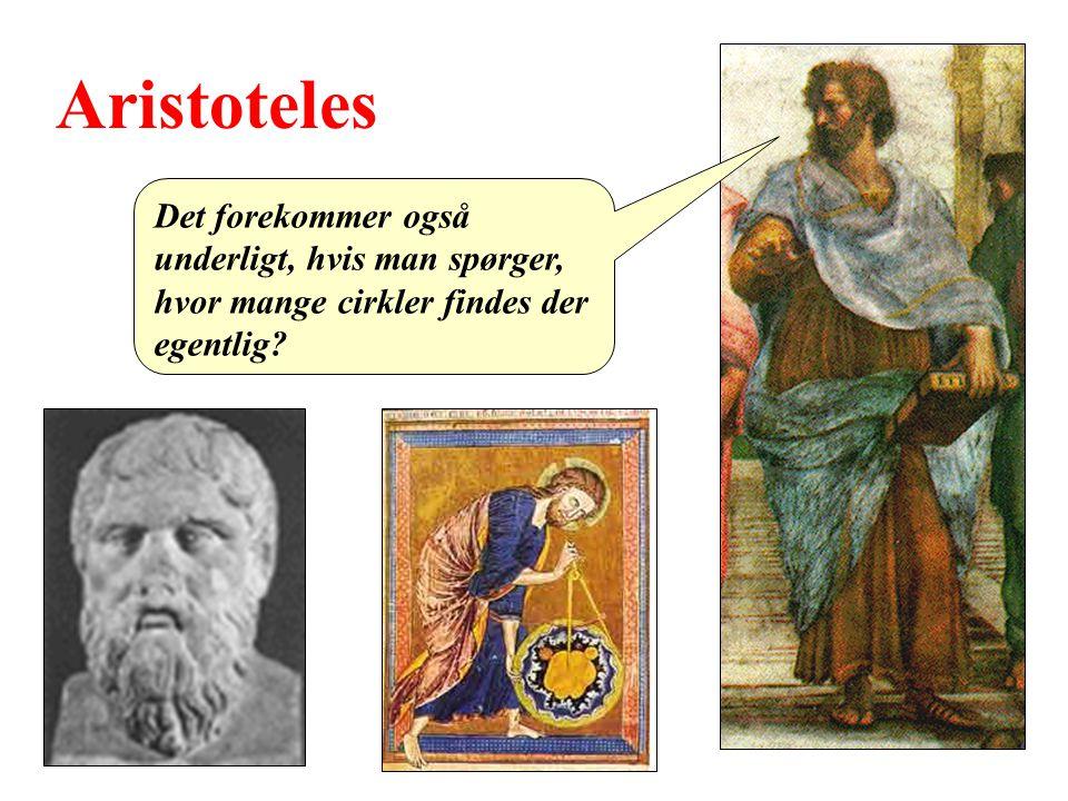 Aristoteles Det forekommer også underligt, hvis man spørger, hvor mange cirkler findes der egentlig
