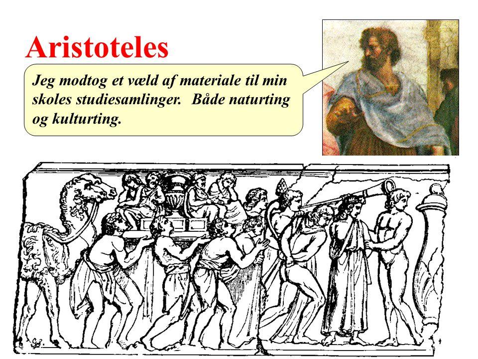 Aristoteles Jeg modtog et væld af materiale til min skoles studiesamlinger.