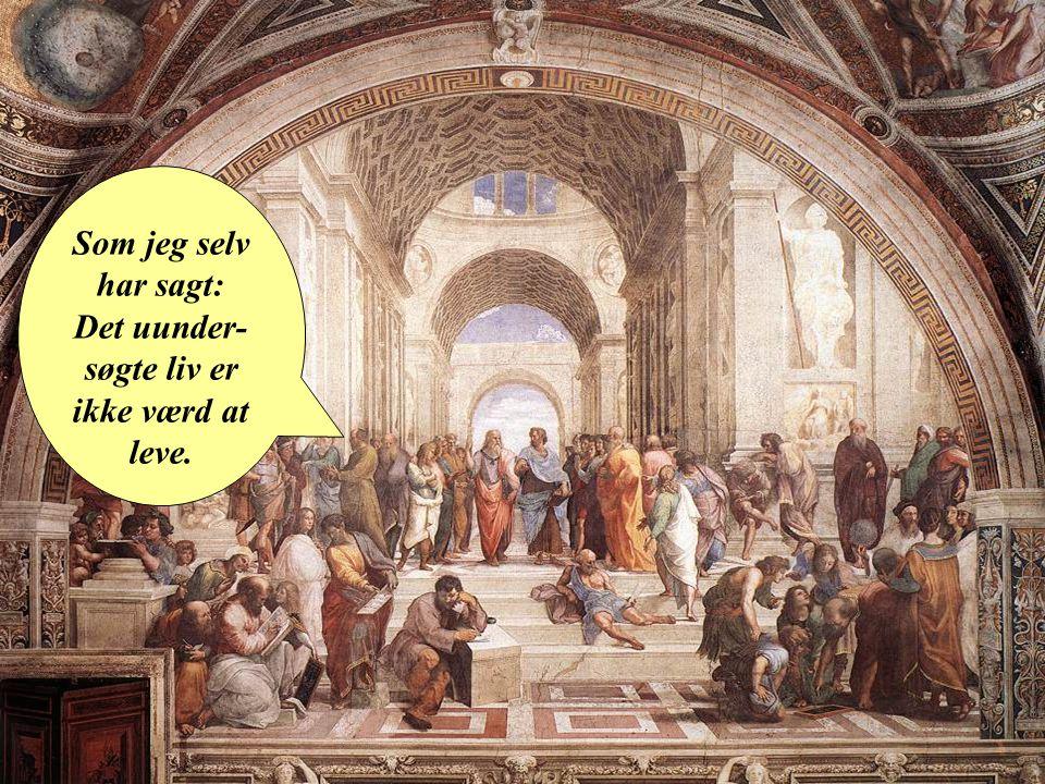 Som jeg selv har sagt: Det uunder-søgte liv er ikke værd at leve.
