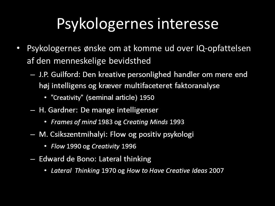 Psykologernes interesse