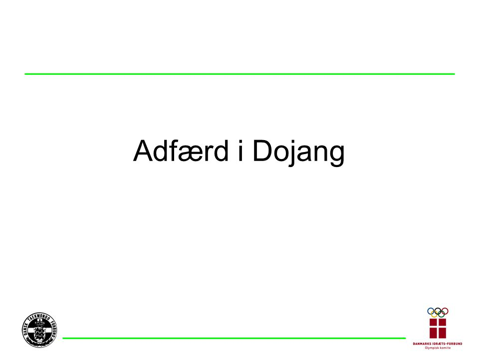 Adfærd i Dojang