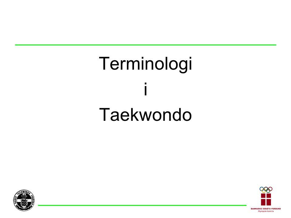 Terminologi i Taekwondo