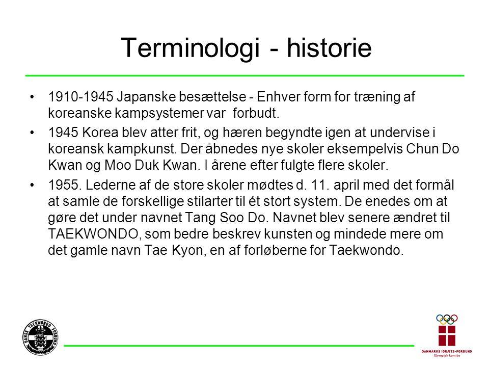Terminologi - historie