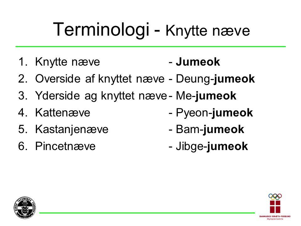 Terminologi - Knytte næve