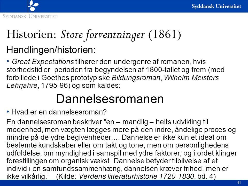 Historien: Store forventninger (1861)