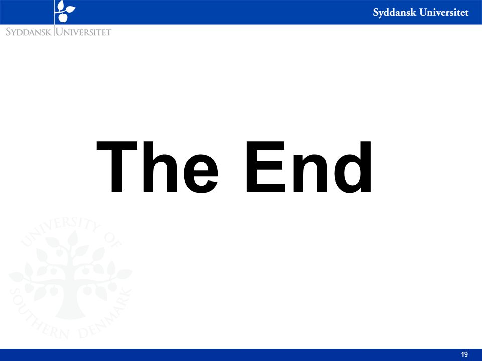 The End And yet...