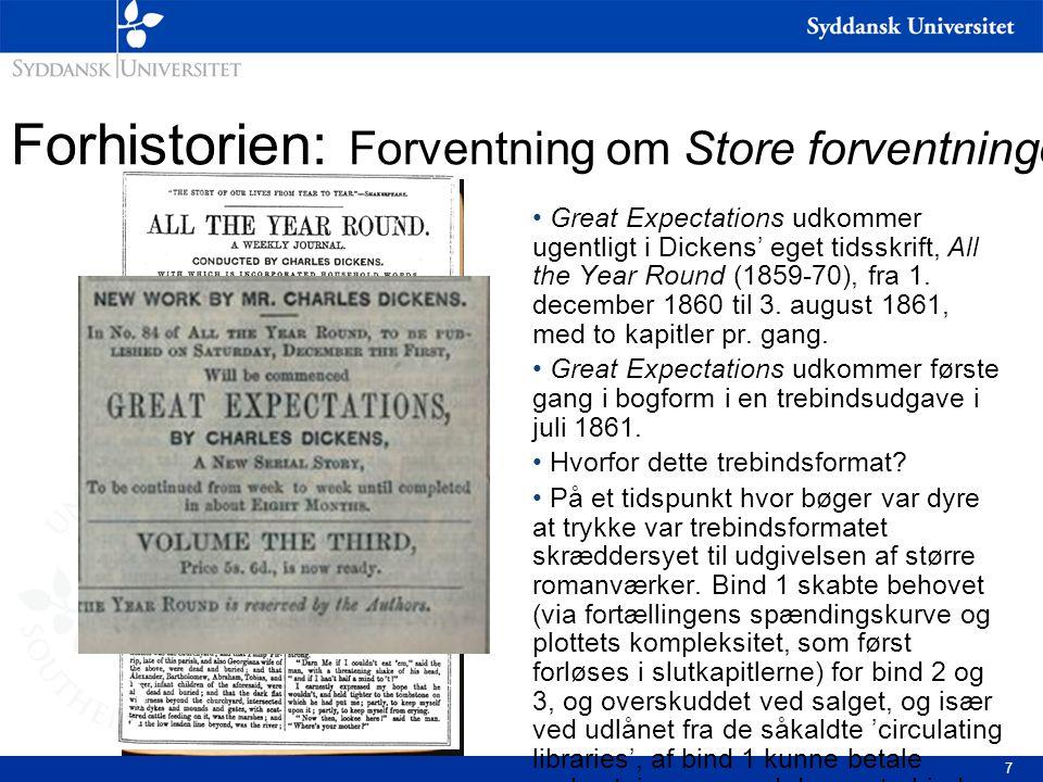 Forhistorien: Forventning om Store forventninger