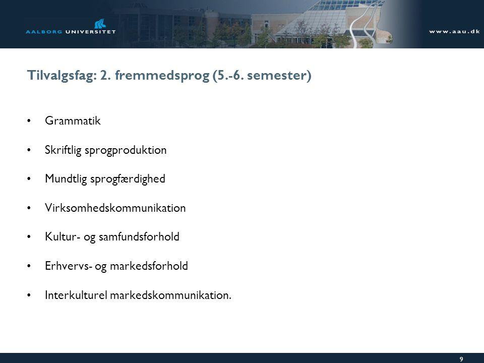 Tilvalgsfag: 2. fremmedsprog (5.-6. semester)