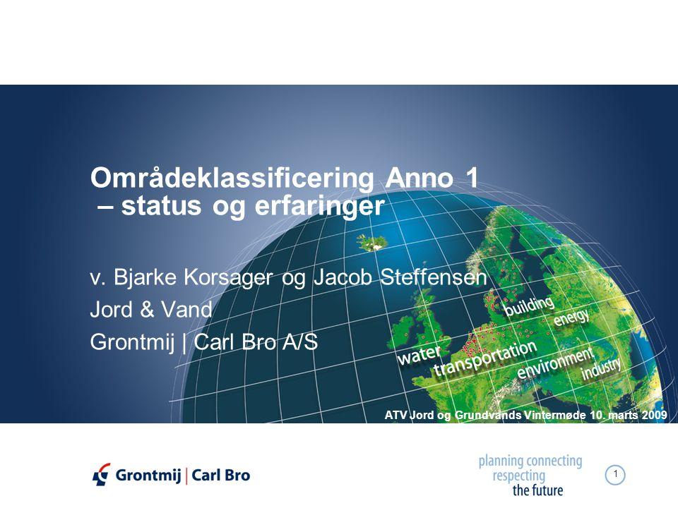 Områdeklassificering Anno 1 – status og erfaringer