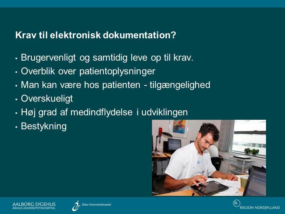 Krav til elektronisk dokumentation
