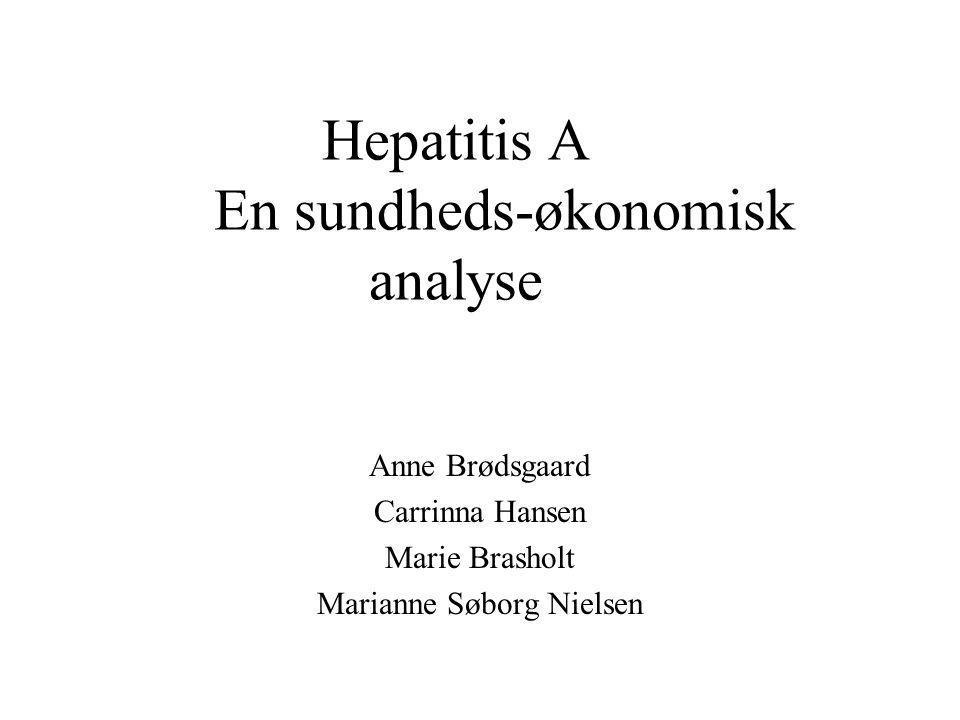 Hepatitis A En sundheds-økonomisk analyse