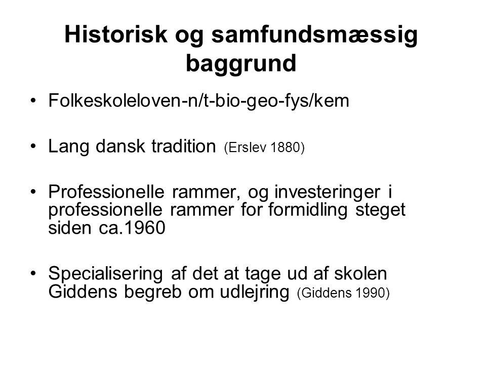 Historisk og samfundsmæssig baggrund