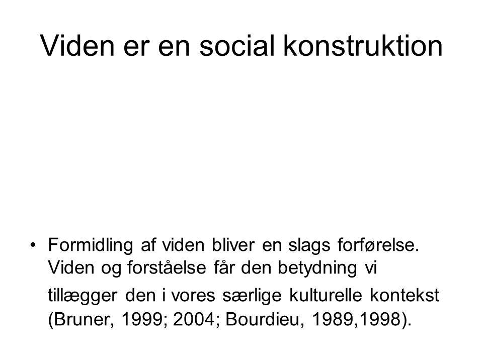 Viden er en social konstruktion