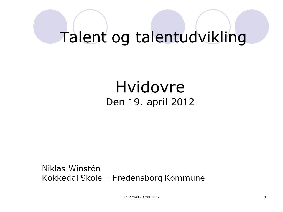 Talent og talentudvikling