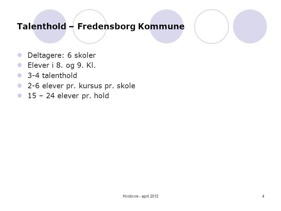 Talenthold – Fredensborg Kommune