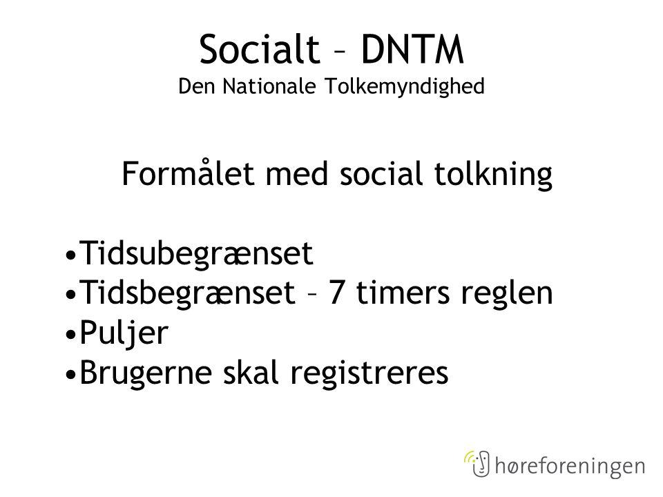 Socialt – DNTM Den Nationale Tolkemyndighed