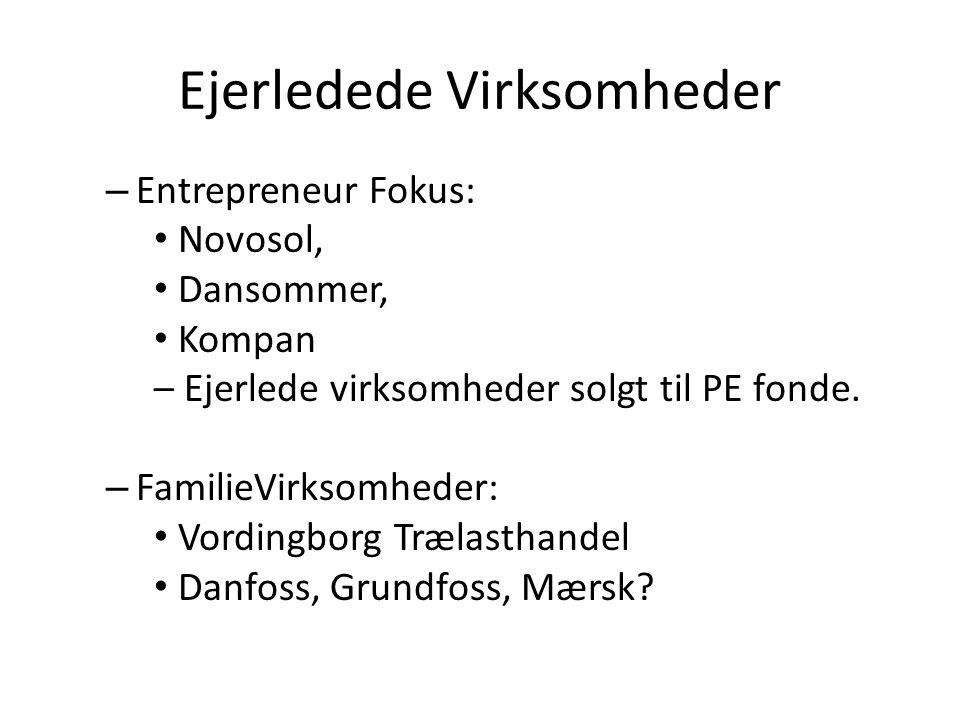 Ejerledede Virksomheder