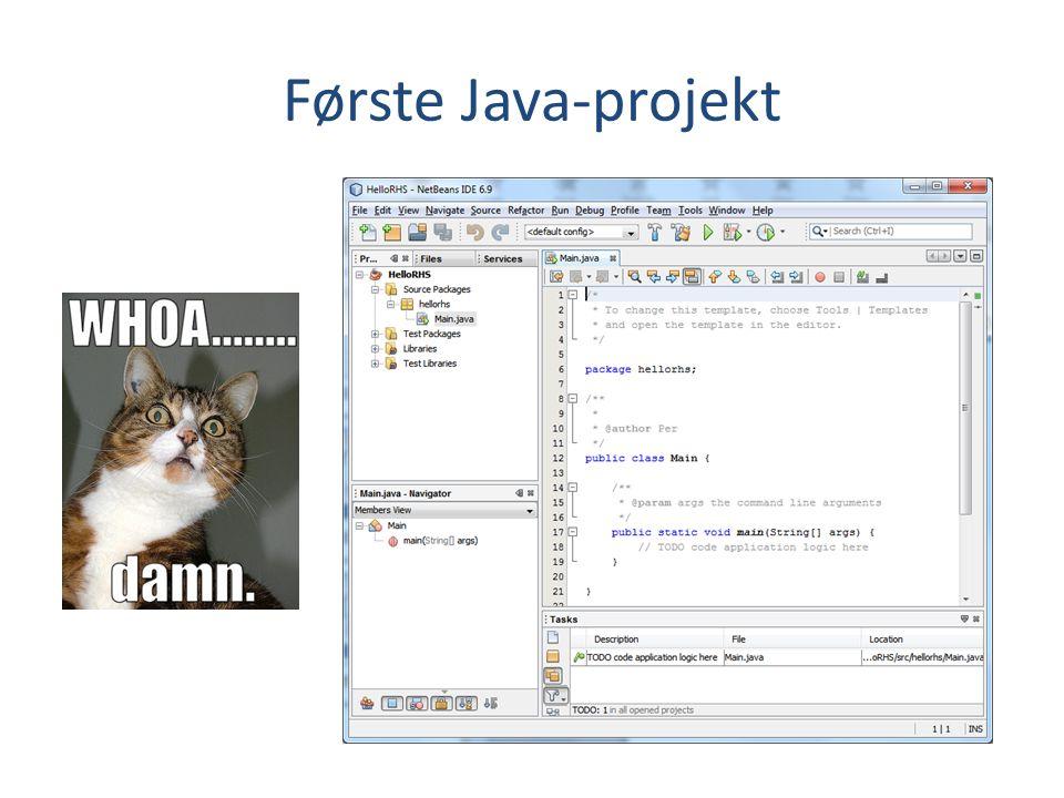 Første Java-projekt