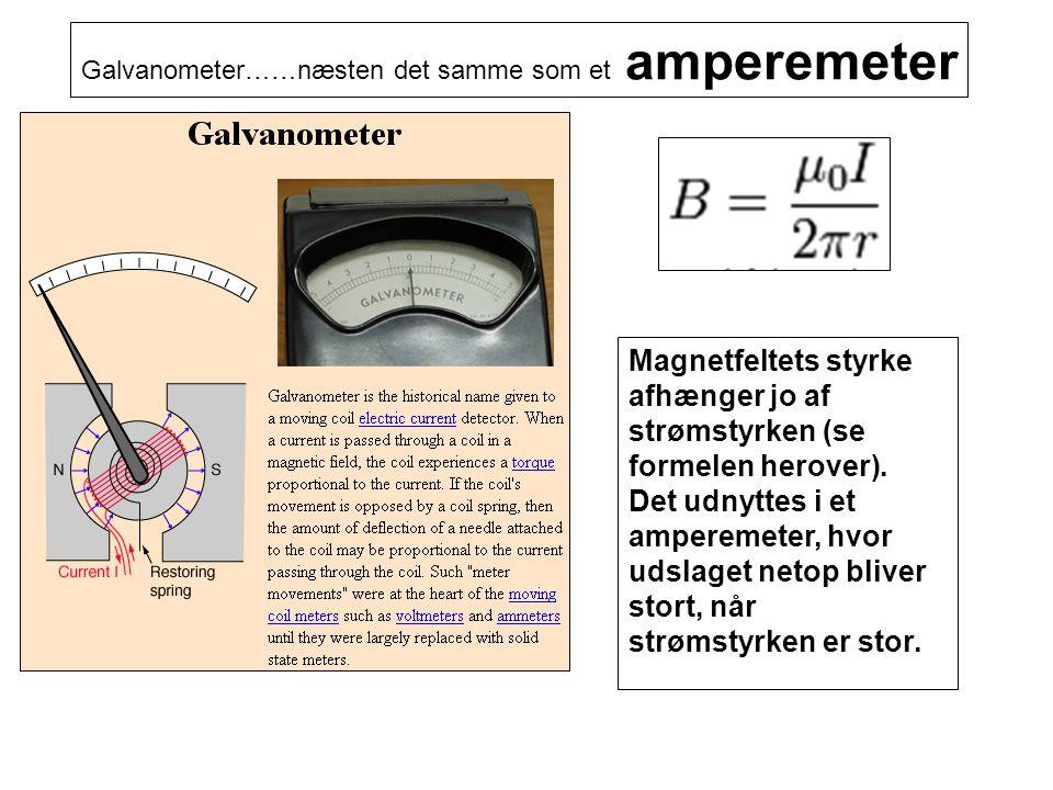 Galvanometer……næsten det samme som et amperemeter