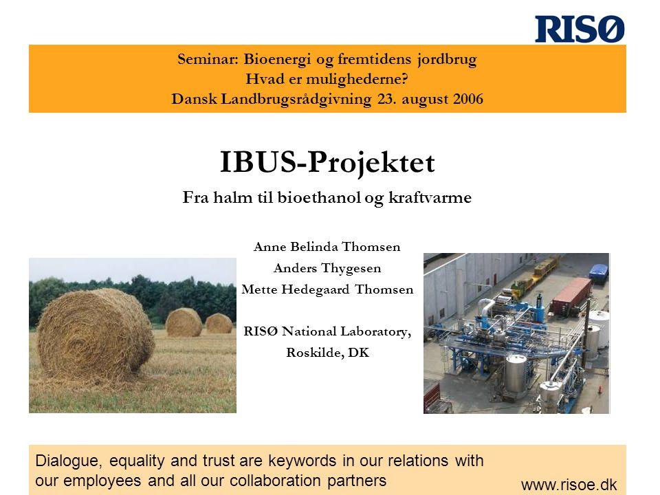 IBUS-Projektet Fra halm til bioethanol og kraftvarme
