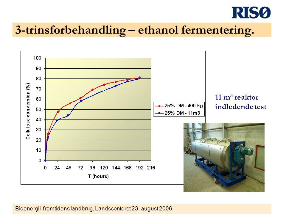 3-trinsforbehandling – ethanol fermentering.