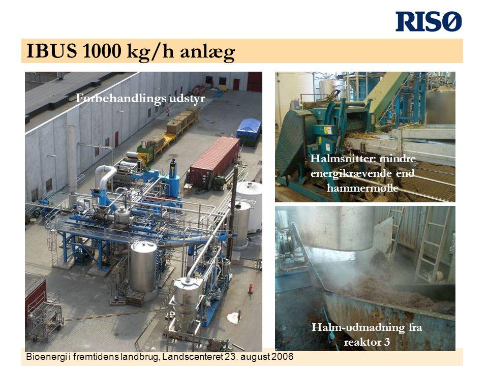 IBUS 1000 kg/h anlæg Forbehandlings udstyr