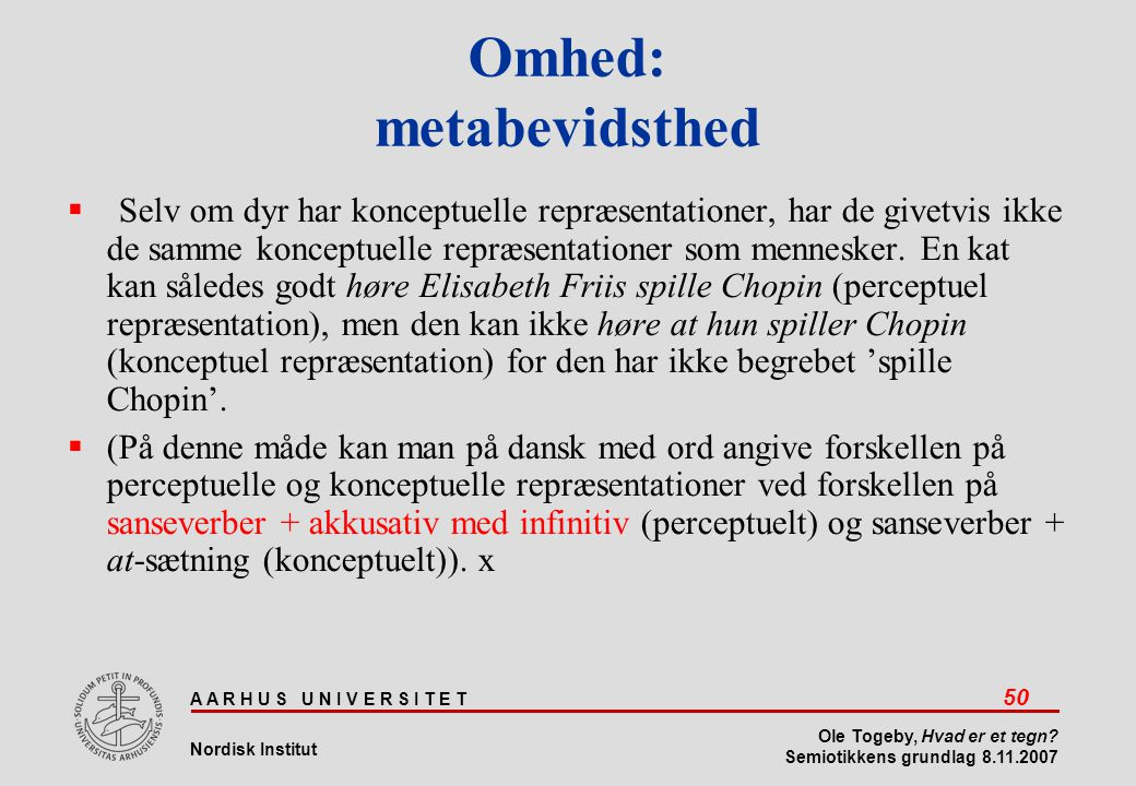 Omhed: metabevidsthed