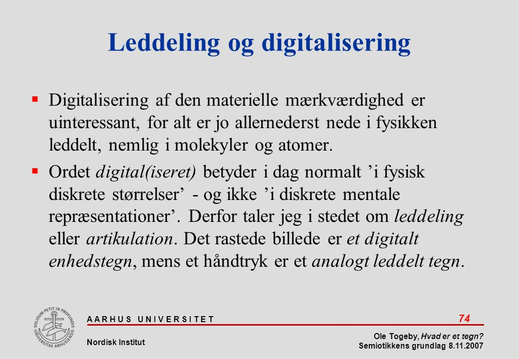Leddeling og digitalisering