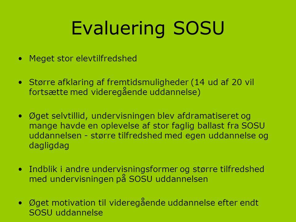 Evaluering SOSU Meget stor elevtilfredshed