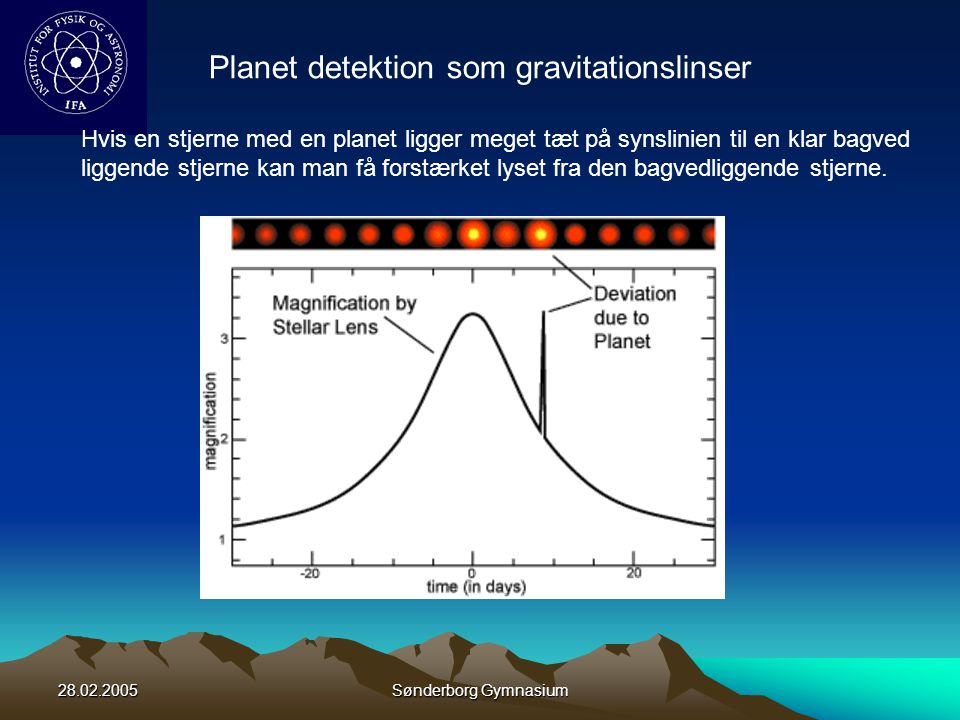 Planet detektion som gravitationslinser