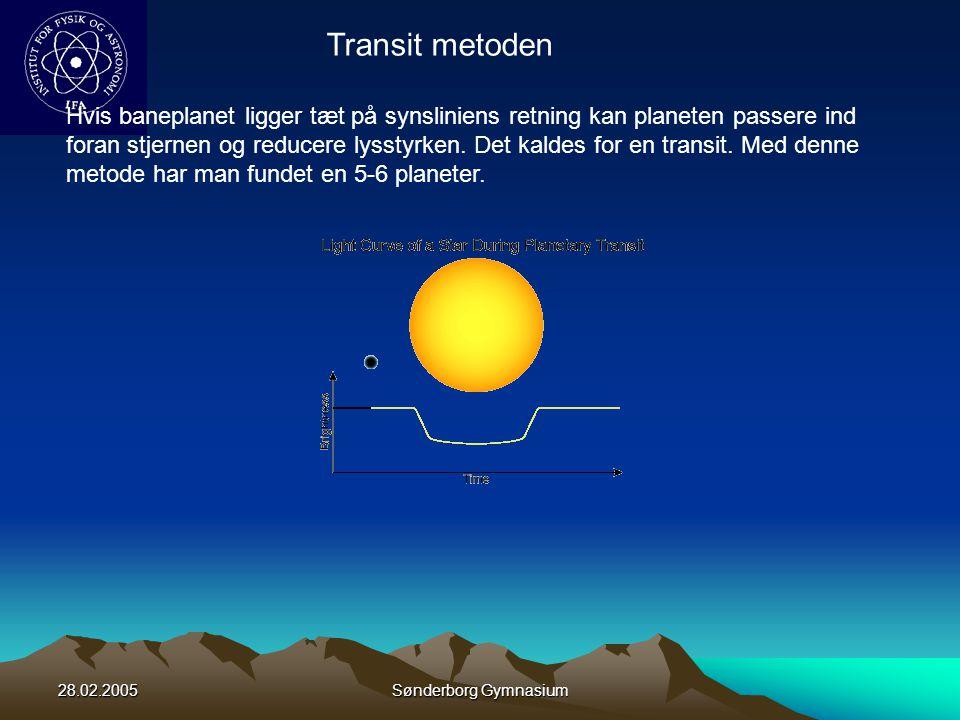 metode har man fundet en 5-6 planeter.