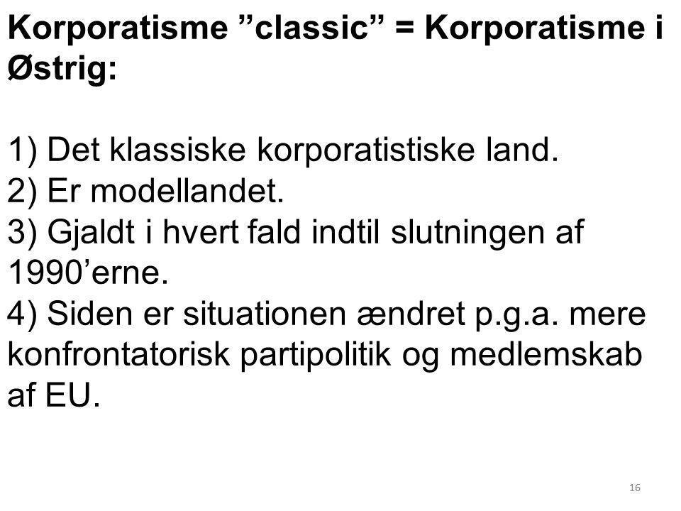 Korporatisme classic = Korporatisme i Østrig: