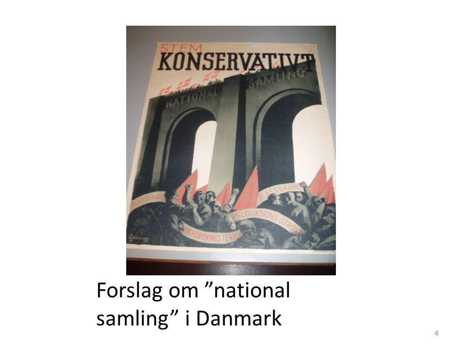 Forslag om national samling i Danmark