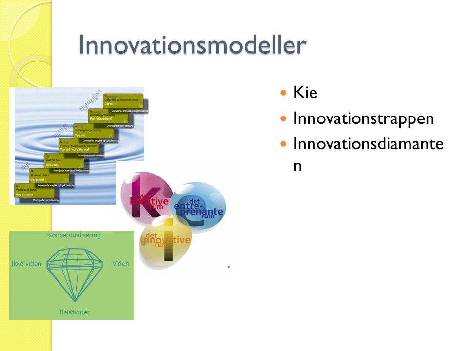 Innovationsmodeller Kie Innovationstrappen Innovationsdiamante n