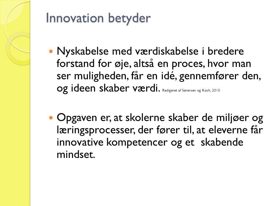 Innovation betyder