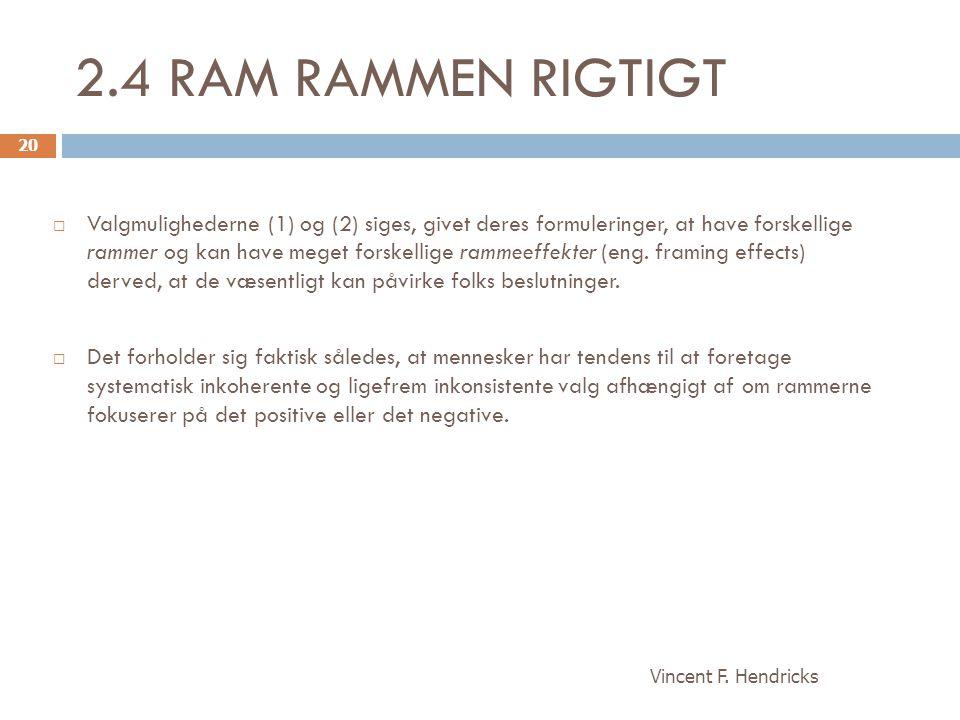 2.4 RAM RAMMEN RIGTIGT