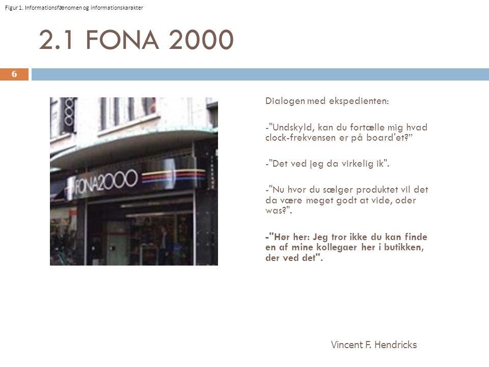 2.1 FONA 2000 Dialogen med ekspedienten: