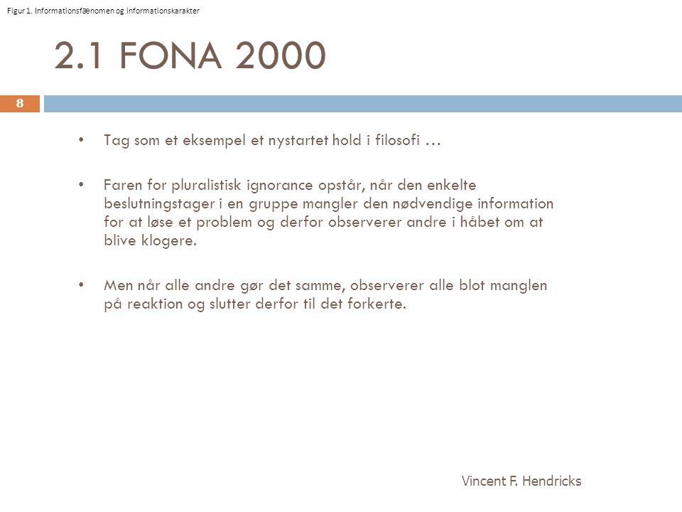 2.1 FONA 2000 Tag som et eksempel et nystartet hold i filosofi …