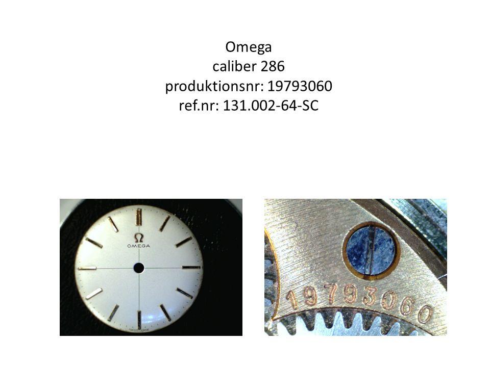 Omega caliber 286 produktionsnr: 19793060 ref.nr: 131.002-64-SC