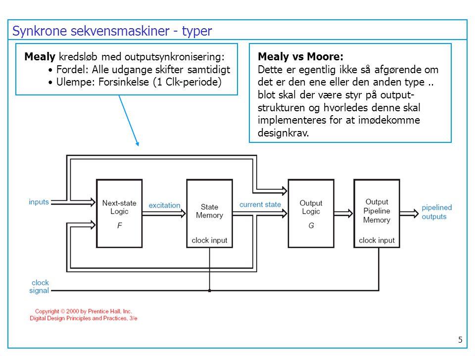 Synkrone sekvensmaskiner - typer