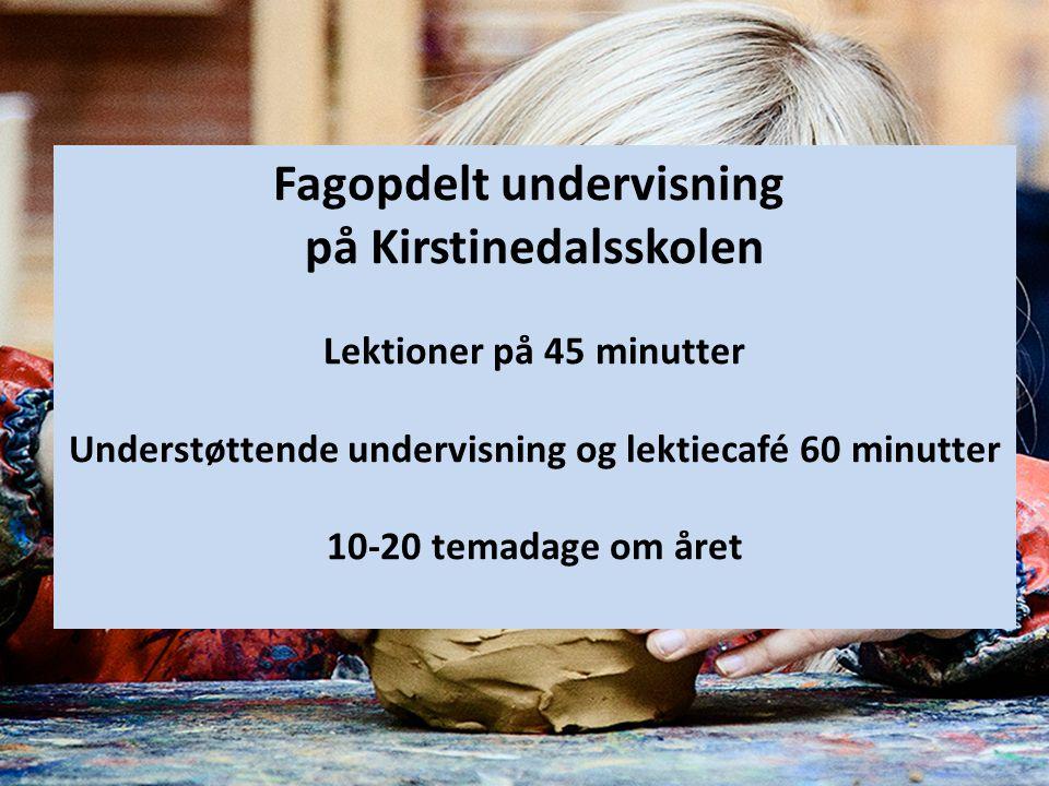 Fagopdelt undervisning på Kirstinedalsskolen