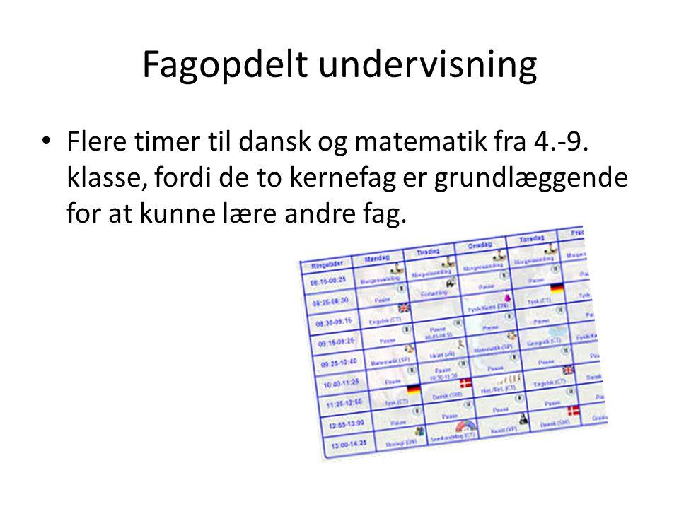 Fagopdelt undervisning