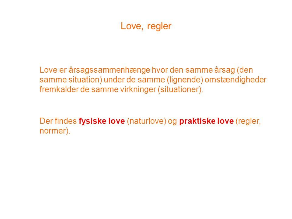 Love, regler