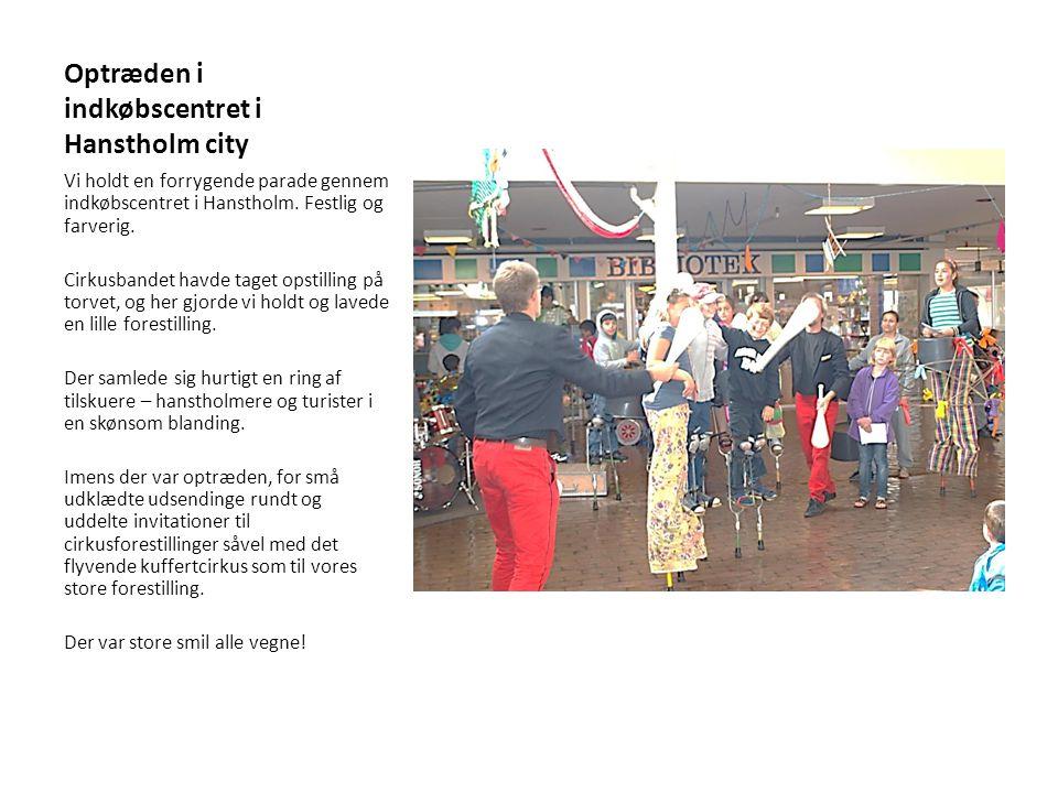 Optræden i indkøbscentret i Hanstholm city