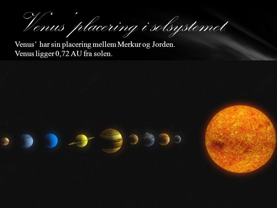 Venus' placering i solsystemet