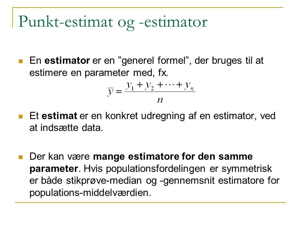 Punkt-estimat og -estimator