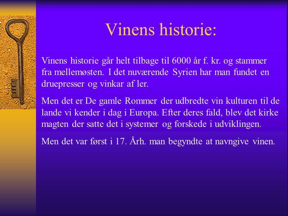 Vinens historie: